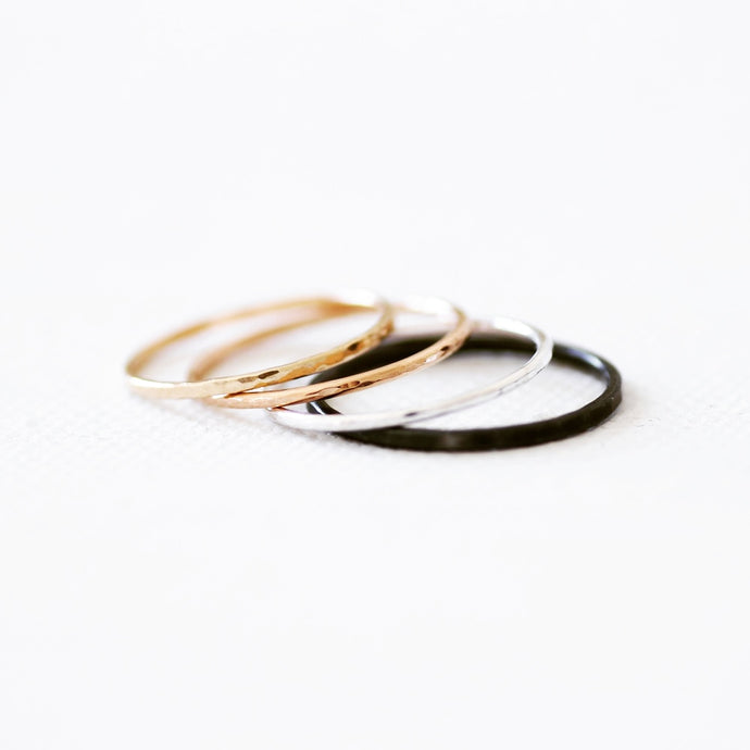 Slim Sterling Silver Stacking Ring