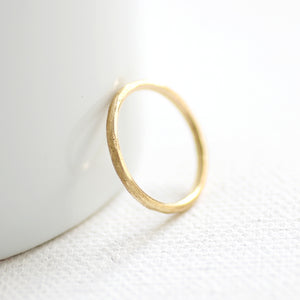 Solid Gold Faceted Ring