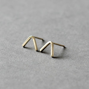 Gold Peak Stud Earrings