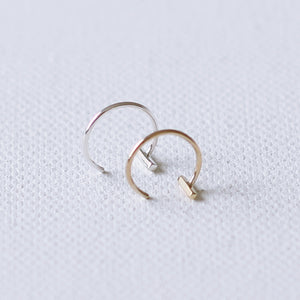 Bar Hugging Hoop 9ct Yellow Gold