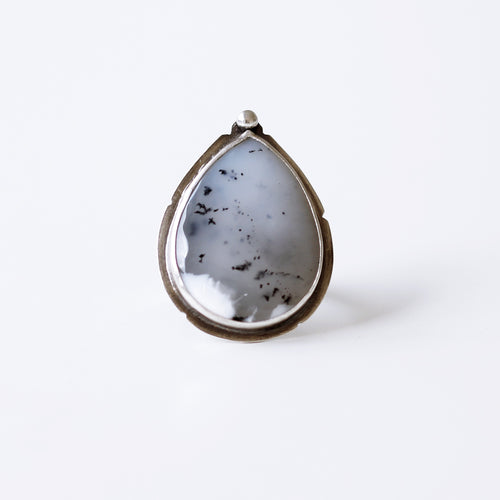 Dendritic Opal Sterling Silver Cocktail Ring