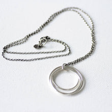 Tri-circle Sterling Silver Long Necklace