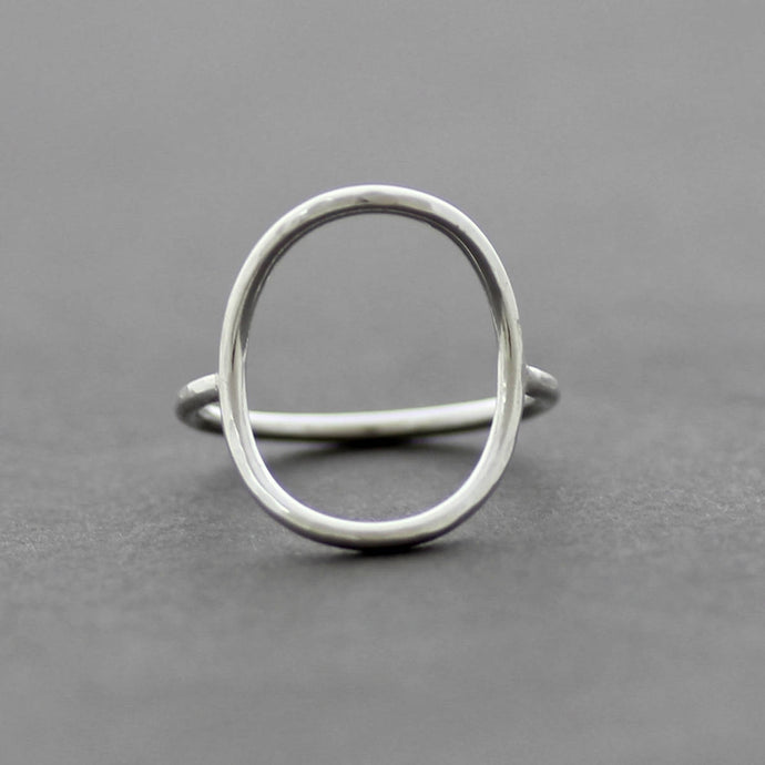Open Oval Sterling Silver Ring