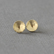 Solid gold dome stud earrings