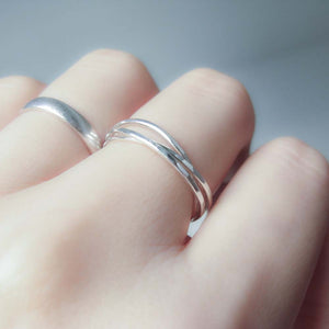 Interlocking Sterling Silver Ring