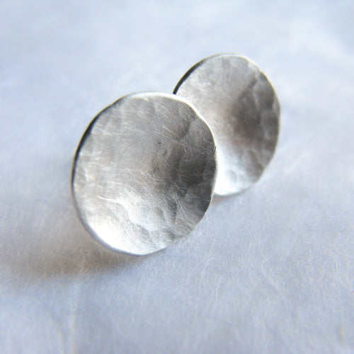 Dome Silver Stud Earrings