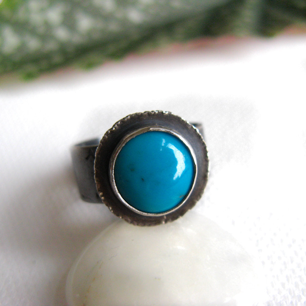 Turquoise Sterling Silver Ring -
