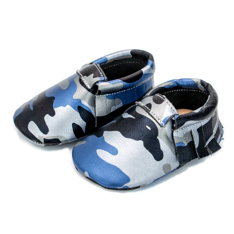 Blue Camo Moccasin