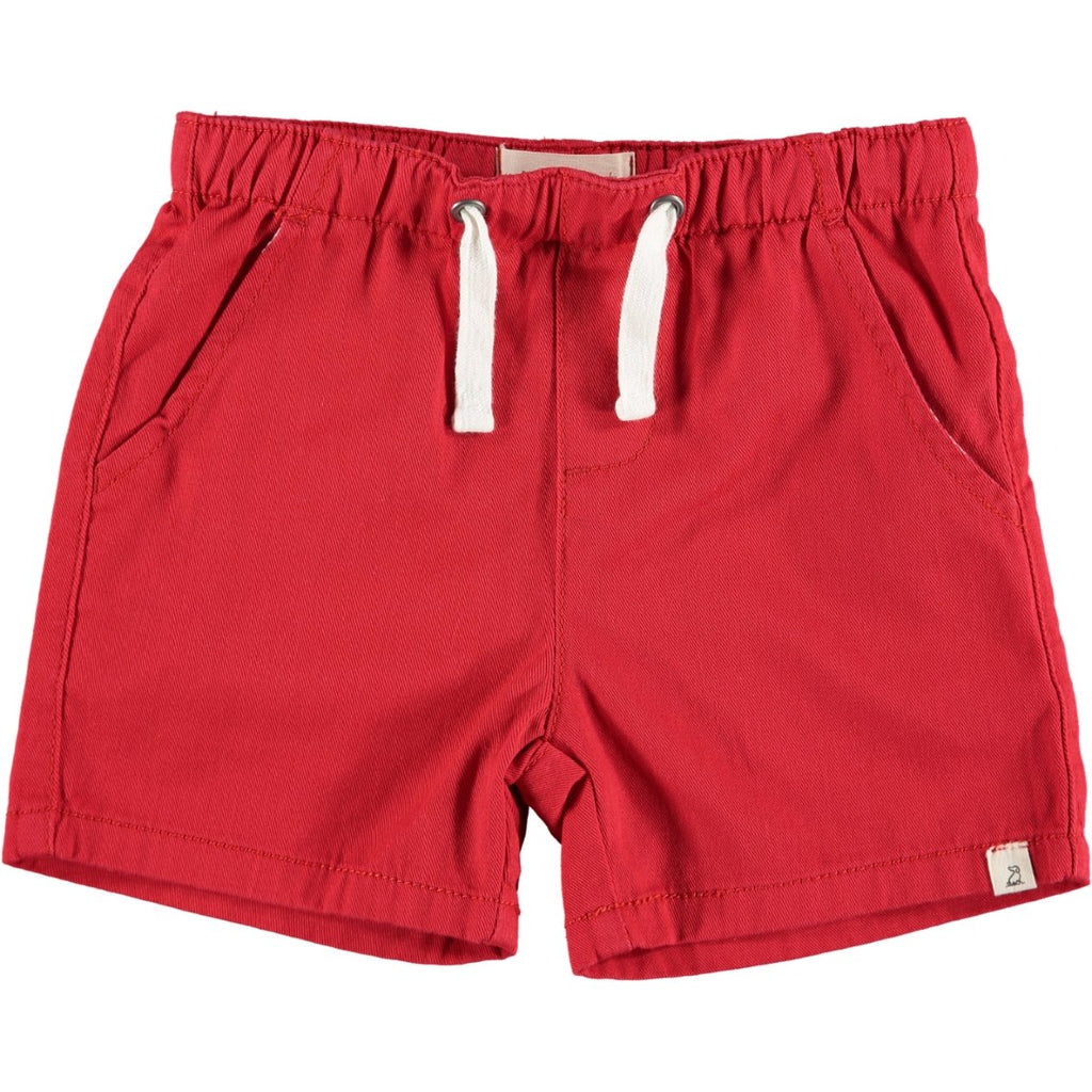 Red Twill Boys Shorts