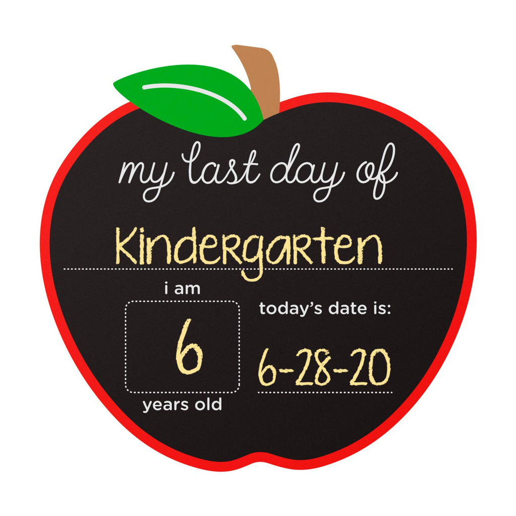 First and Last Day Apple Chalkboard Sign