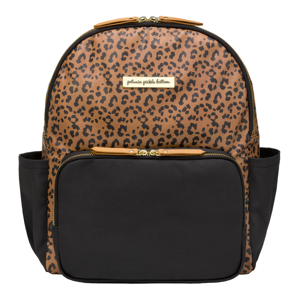District Backpack- Black/Leopard