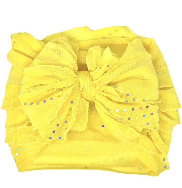 Neon Yellow  Ruffle Headband
