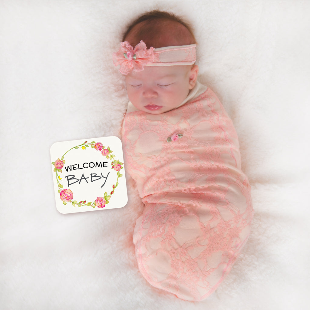 Pink Lace Swaddle