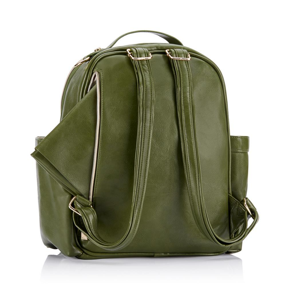 Itzy Ritzy Olive Mini Diaper Bag Backpack