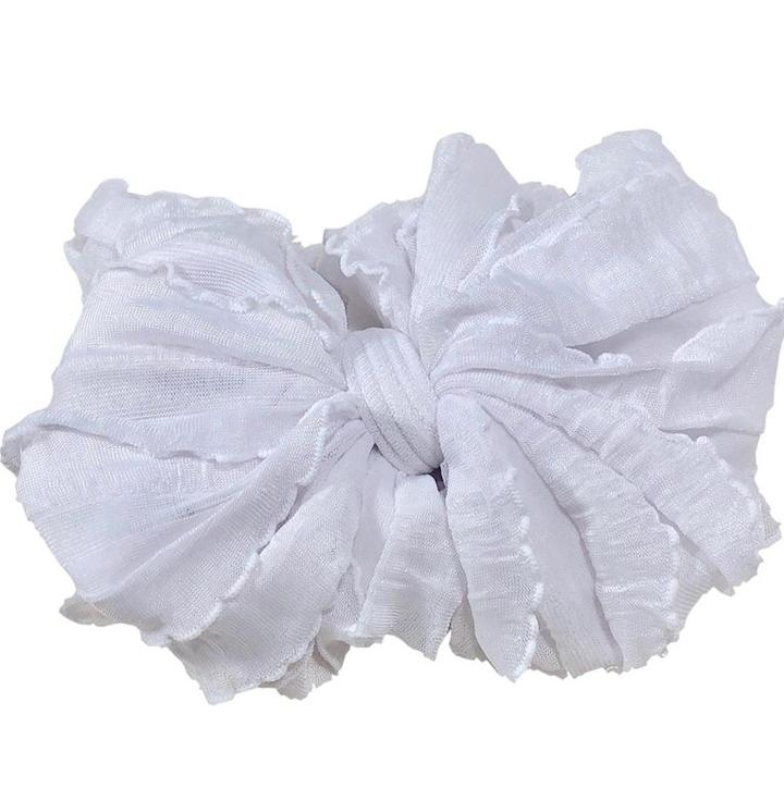 White Ruffle Headwrap