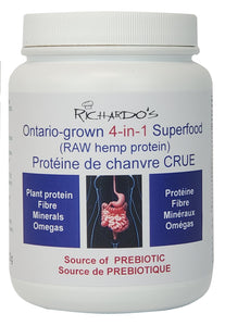 Ontario-grown RAW hemp protein (4-in-1 Superfood)