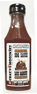 Crazy Mooskies No sugar added ORIGINAL BBQ sauce