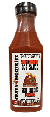 Crazy Mooskies No sugar added SMOKEHOUSE BBQ sauce