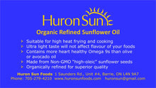 Certified Organic refined high heat sunflower oil 500ml