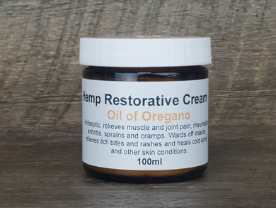 Hemp Restorative Cream, Oil of Oregano