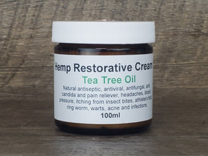 Hemp Restorative Cream, Tea Tree Oil