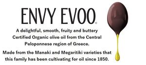 ENVY EVOO Limited Harvest Certified Organic olive oil 500ml