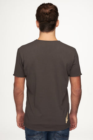 Men T-Shirt Vintage Round Neck