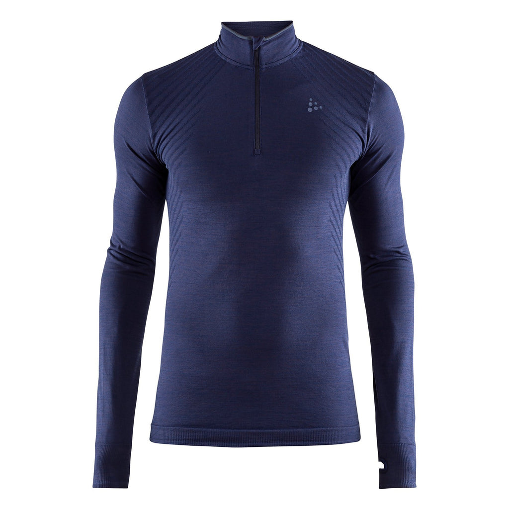Craft Fuseknit Comfort Zip Neck Baselayer Blue