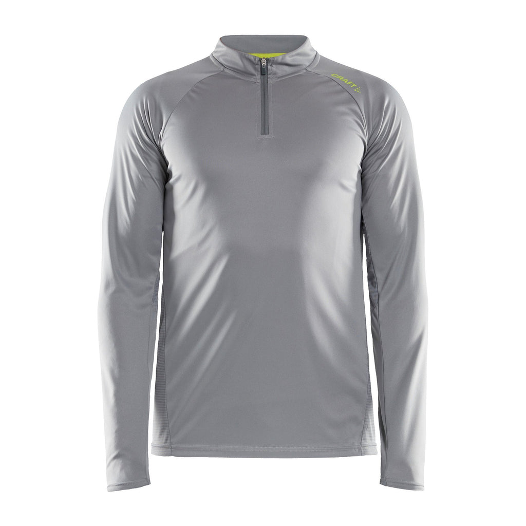 Craft Eaze Half Zip Long Sleeve Mens Running Top Grey