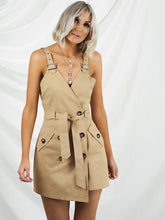 Tan pinafore dress
