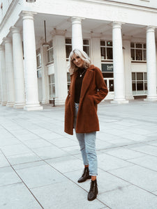 Rust teddy coat