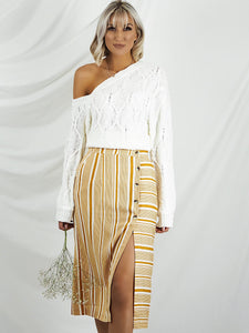 Yellow stripe skirt