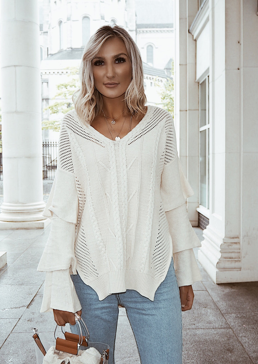 Cream jumper