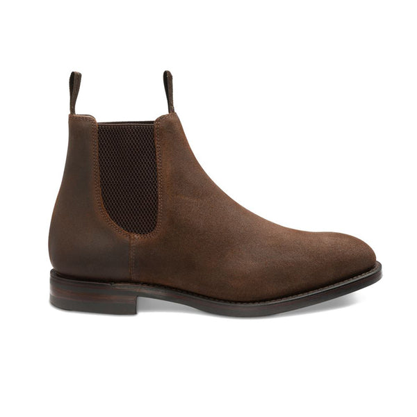 Ghete Chatsworth Dainite Rust Brown Waxed Suede
