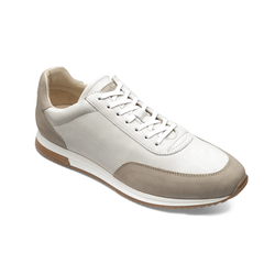 Trainer Bannister 2 Tone Stone Nubuck Leather