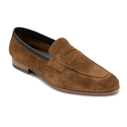 Daroa Tan Suede Loafer Shoes
