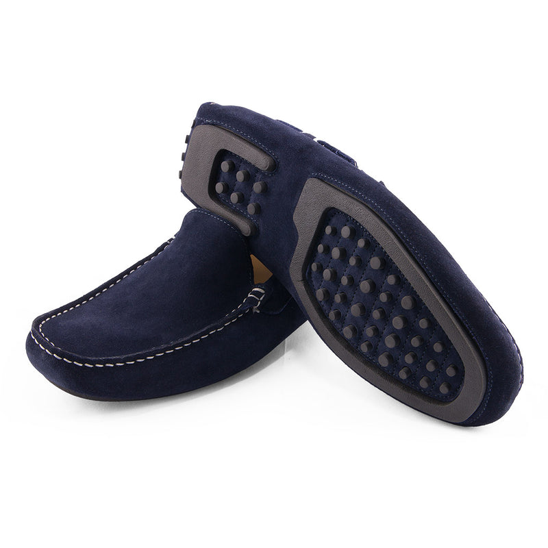Navy Donington Leather Shoes