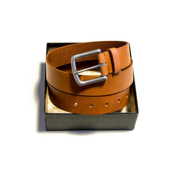 Edgar brass leather strap