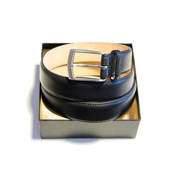 Henry black leather belt
