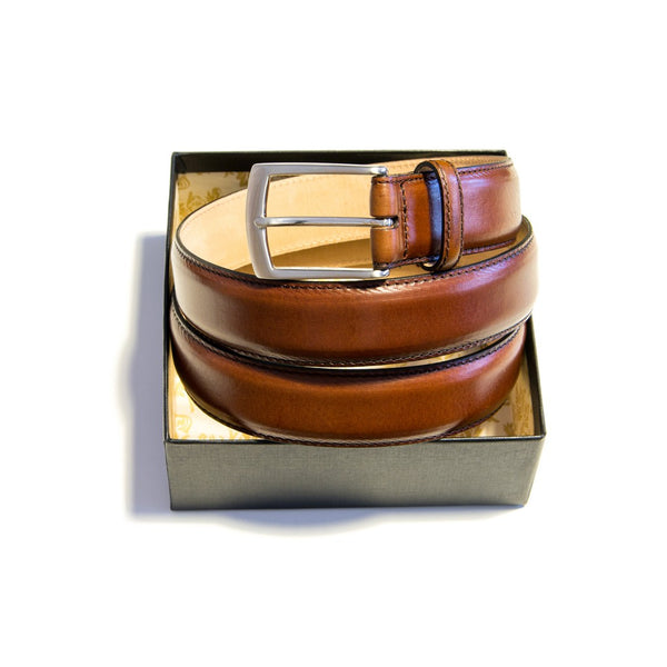Henry brown leather belt