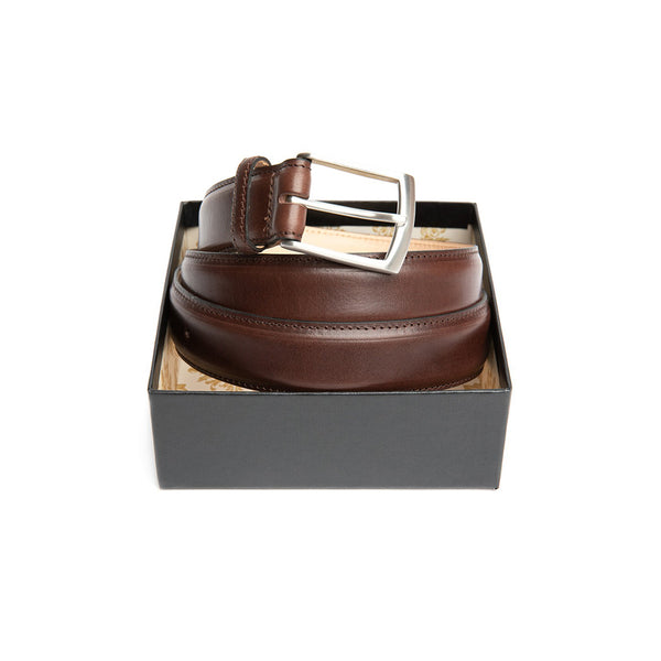 Dark brown leather belt Henry