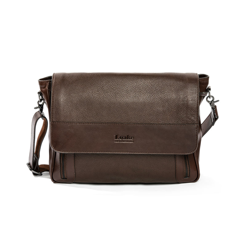 Horseguards Dark Brown Messenger Bag