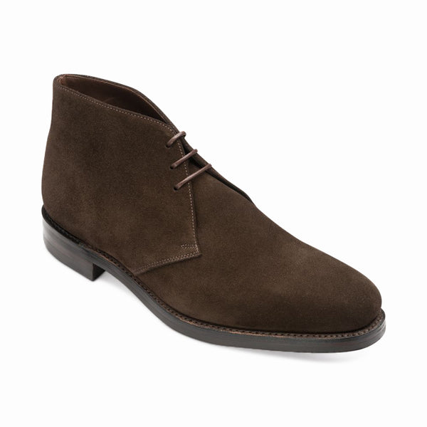 Dark Brown Suede Leather Boots