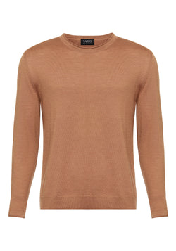 Cashmere Sand & Silk Sweater