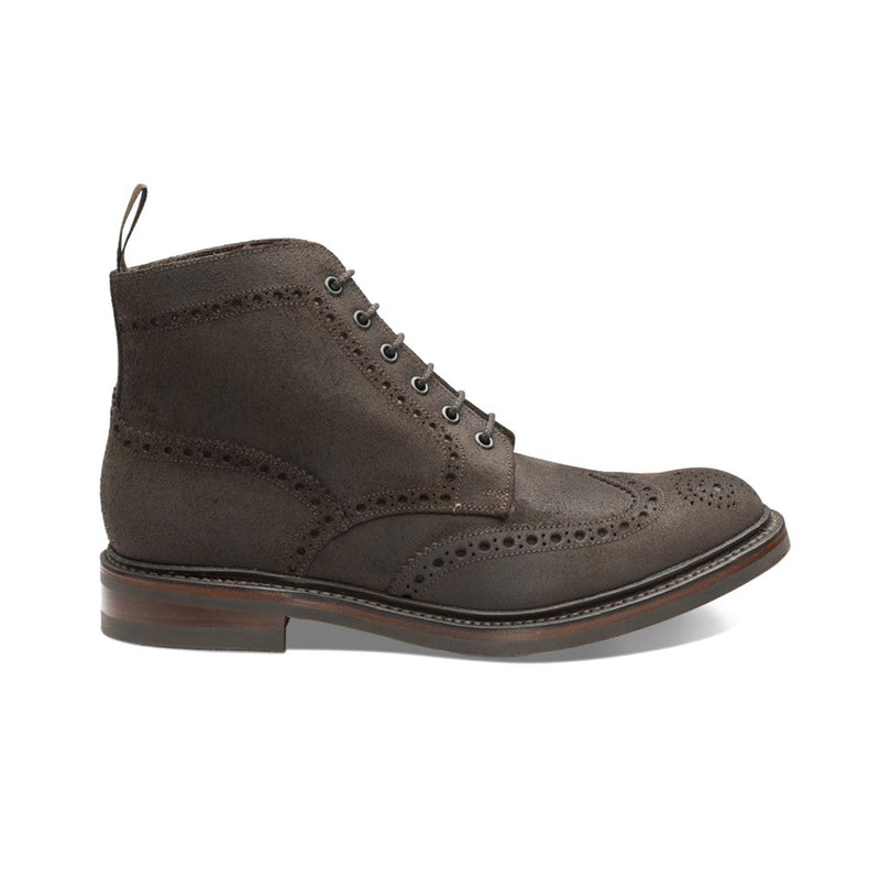 Ghete Bedale Dark Brown Waxed Suede