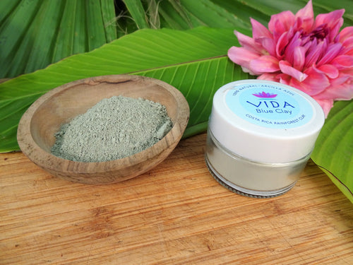 VIDA Blue Clay - 1.75 oz 100% Natural Costa Rica Rainforest Blue Clay