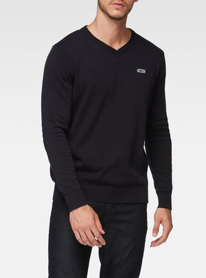 Basic dark navy v-neck sweater