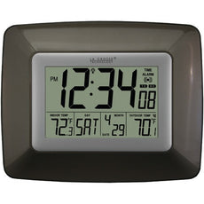 La Crosse Technology Atomic Digital Clock With Indoor And Outdoor Temperature (black) (pack of 1 Ea)