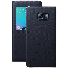 Samsung Samsung Galaxy S 6 Edge+ S-view Flip Cover (black Sapphire) (pack of 1 Ea)