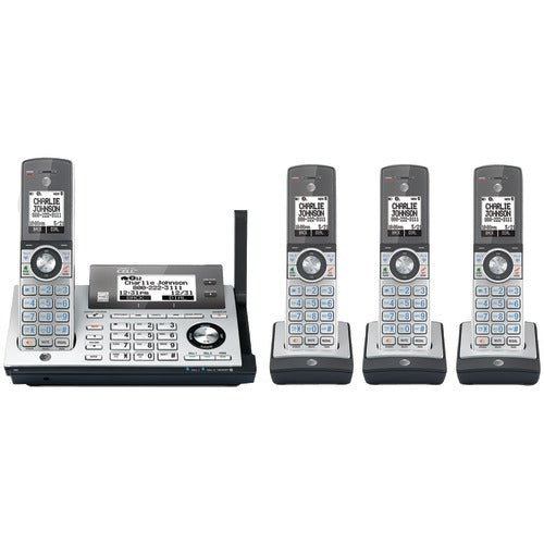 Att Dect 6.0 Connect-to-cell 4-handset Phone System With Dual Caller Id And Call Waiting (pack of 1 Ea)